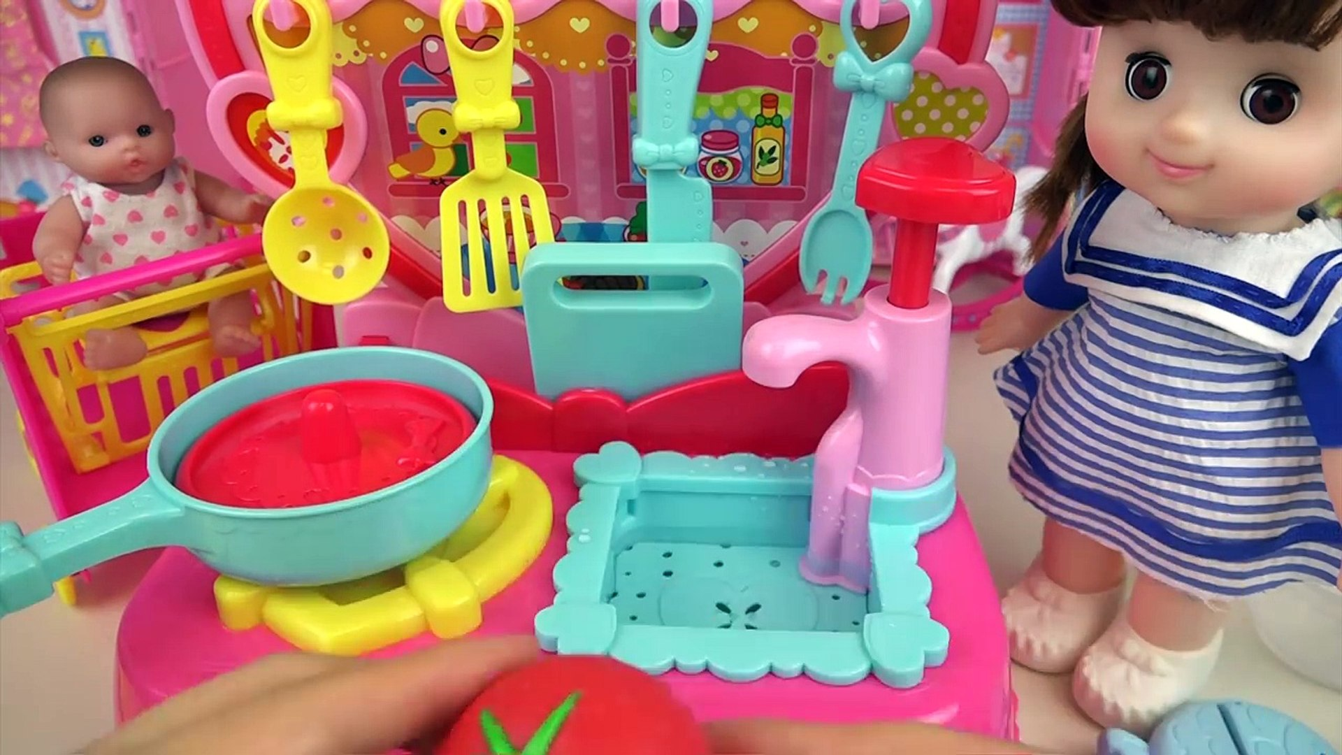 Kitchen And Food Cooking Toys And Baby Doll Play Video Dailymotion