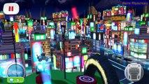 Cars Lightning McQueen NEON Komodo vs Yokoza Track NEON Carla - Fast as Lightning NEON RACING!