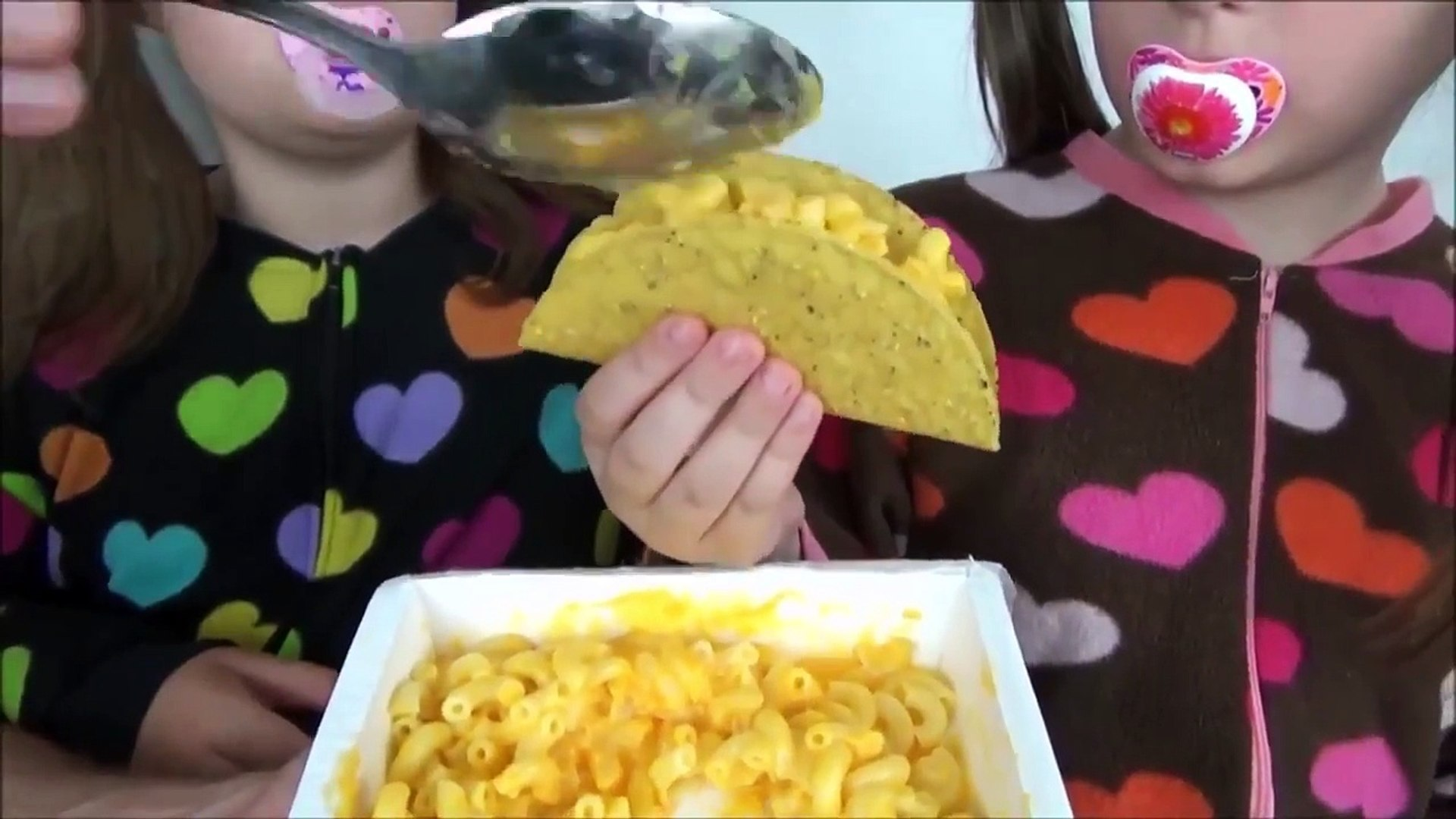 Toy Freaks - Freak Family Vlogs - Bad Baby Taco Challenge Taste Test Spaghetti Pizza Hot Dog Tacos F