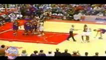 Charles Barkley et Vernon Maxwell se chauffent -1994 Playoffs