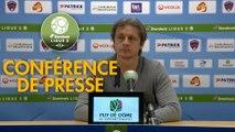 Conférence de presse Clermont Foot - Valenciennes FC (3-0) : Pascal GASTIEN (CF63) - Réginald RAY (VAFC) - 2017/2018
