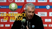 Conférence de presse Stade de Reims - Tours FC (1-0) : David GUION (REIMS) - Jorge COSTA (TOURS) - 2017/2018