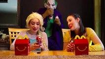 #1Spiderman ATTACK Frozen Elsa w  Joker Maleficent Belle Spidergirl Iron Man Hair Stuck Fun | Superheroes | Spiderman | Superman | Frozen Elsa | Joker