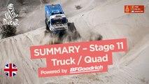 Summary - Truck/Quad - Stage 11 (Belén / Fiambalá / Chilecito) - Dakar 2018