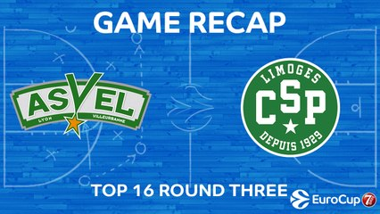 7Days EuroCup Highlights Top 16, Round 3: ASVEL 92-78 Limoges