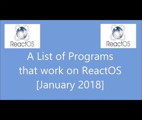 ReactOS Resource | Learn About, Share and Discuss ReactOS At