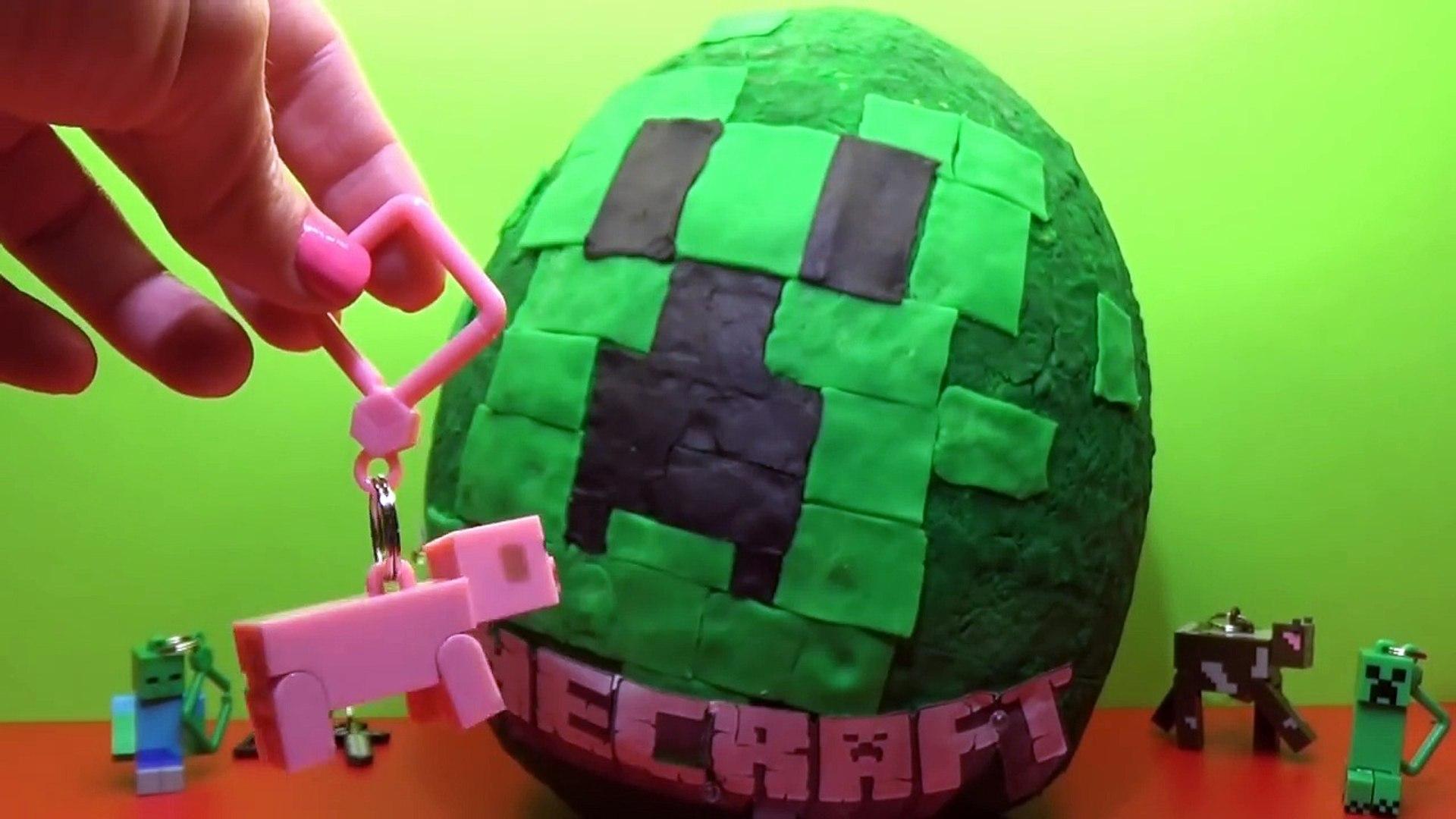 Minecraft gigante juguetes huevo sorpresa Keychaine Minecraft géant jouets surprise, dœufs