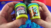 Star Wars Action Figures Play Doh Surprise Eggs & Star Wars Nesting Dolls Unboxing Review
