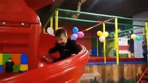 Indoor Playground Family Fun Play Area for kids playing with toys balls  & Baby
