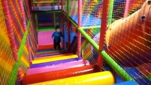 Playing Indoor Playground Kids Fun with Balls Toys Play cente for Kids Playroom Games-0