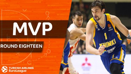 Regular Season Round 18 MVP: Alexey Shved, Khimki