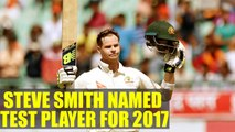 Steve Smith named ICC Test player for the year 2017 | Oneindia News