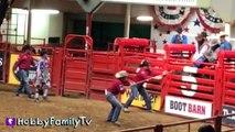 Cowboy RODEO! Riding Bulls n' Horses   Sheep at Fort W