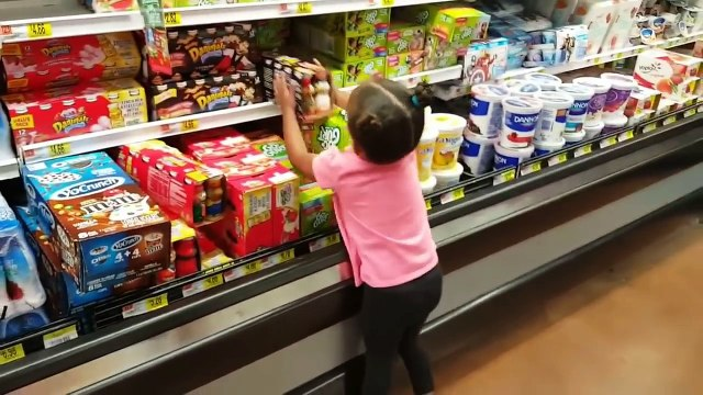 Cute Little Girl Doing Shopping With Toy Shopping Cart Video Compilation   Imanis Fun World