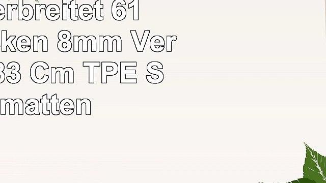 MMDP Yoga Matten Anfänger Verbreitet 61 Cm Verdicken 8mm Verlängert 183 Cm TPE Sportmatten