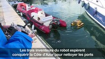 """Le """"robot méduse"""", un aspirateur à déchets flottant"""