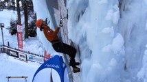 Destination montagnes : Coupe d'Europe de cascade de glace à Champagny en Vanoise