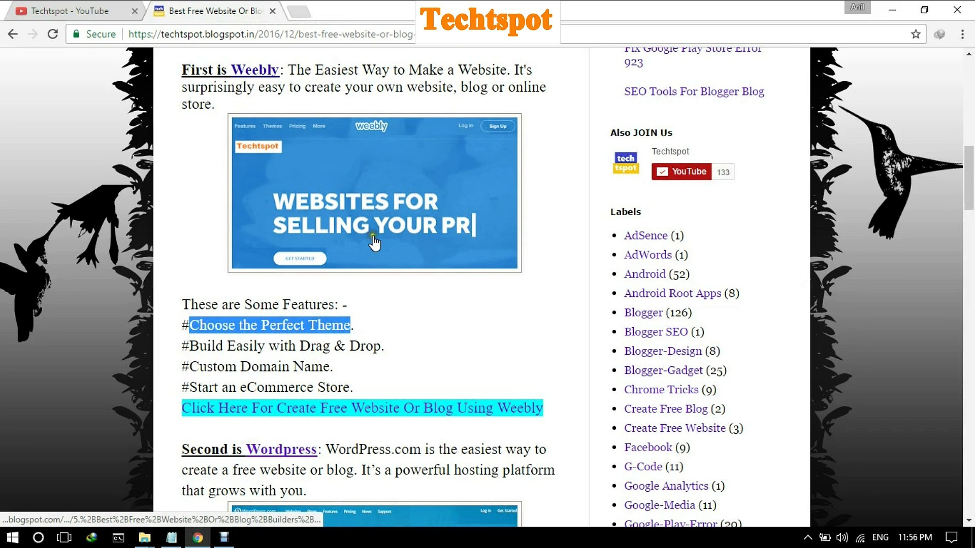 How To Make A Free Website Using Weebly - Hindi Urdu