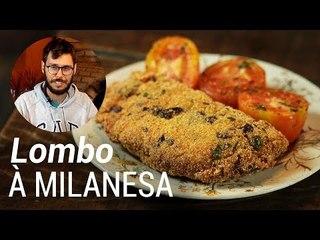 Filé de Lombo à Milanesa com Tomates Grelhados - Web à Milanesa