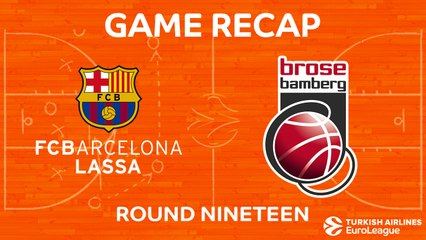 EuroLeague 2017-18 Highlights Regular Season Round 19 video: Barcelona 81-66 Bamberg
