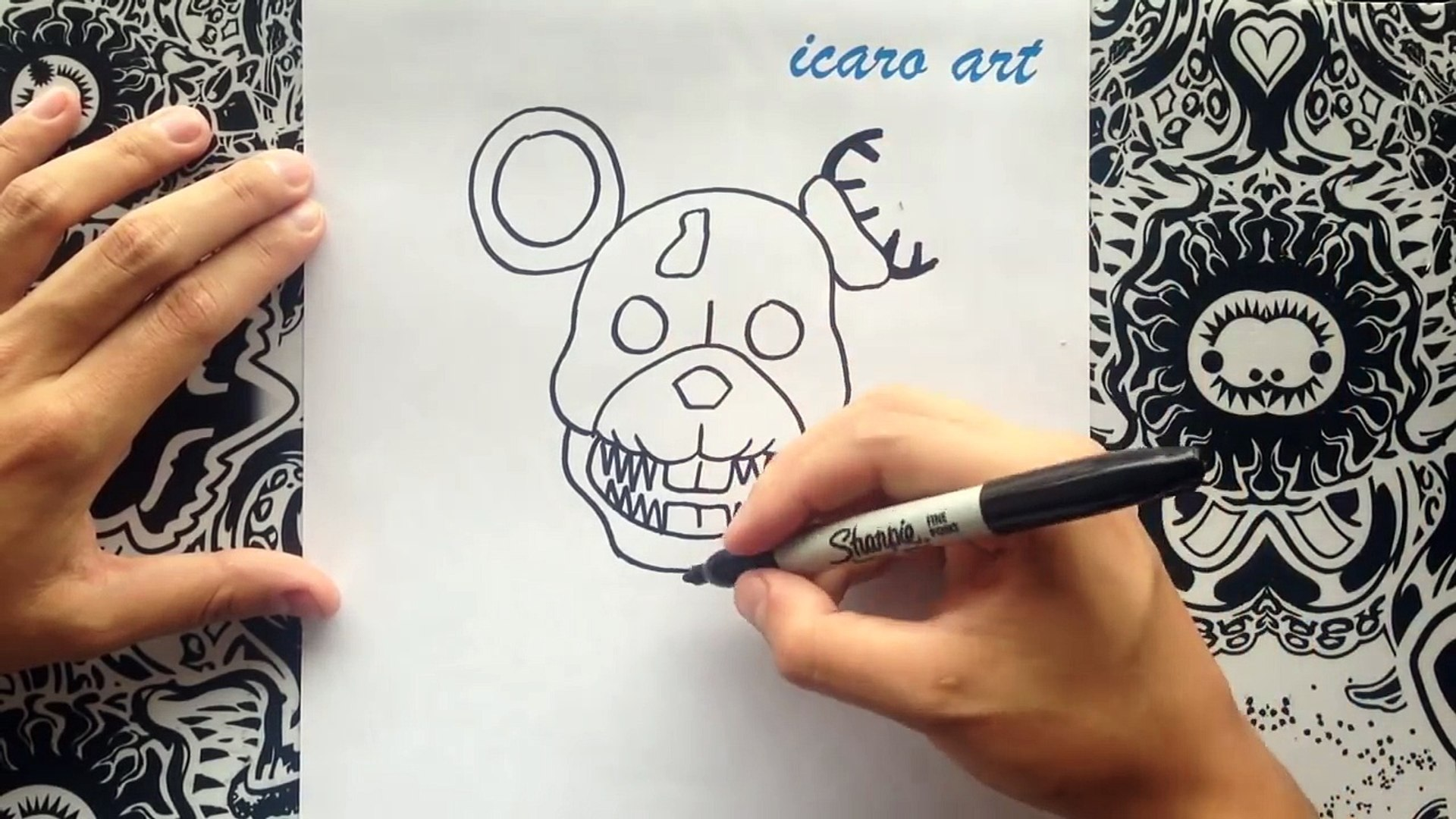 Como dibujar a rat de five nights at candys | how to draw a rat step by step