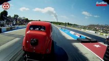 2017 ScottRods AA Gassers Drag Racing Burnout Wheelies Cars Meltdown Drags Byron Dragway USA Video
