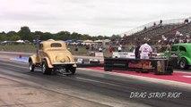 2017 Gasser Drag Racing Nostalgia Cars Old School Meltdown Drags Byron Dragway Video