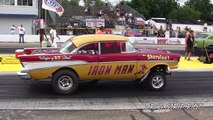 2016 Gasser Nostalgia Drag Racing Hot Rod Cars Wheelies Meltdown Drags Byron Dragway USA  Video