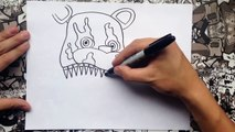 Como dibujar a five nights at freddys 4 | how to draw five nights at freddys 4