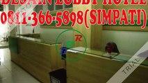 0811-366-5898(SIMPATI), Design Ruang Lobby Hotel Surabaya, Jasa Desain Interior Surabaya
