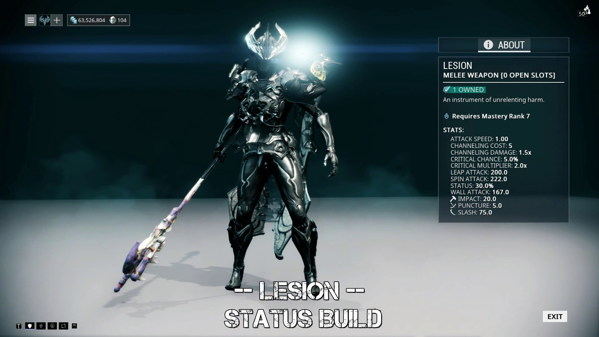 Warframe Lesion - Status Build (Best Of The Best)