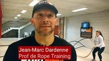 Nouveau à Verviers: il donne des cours de Rope training, de la corde ondulatoire