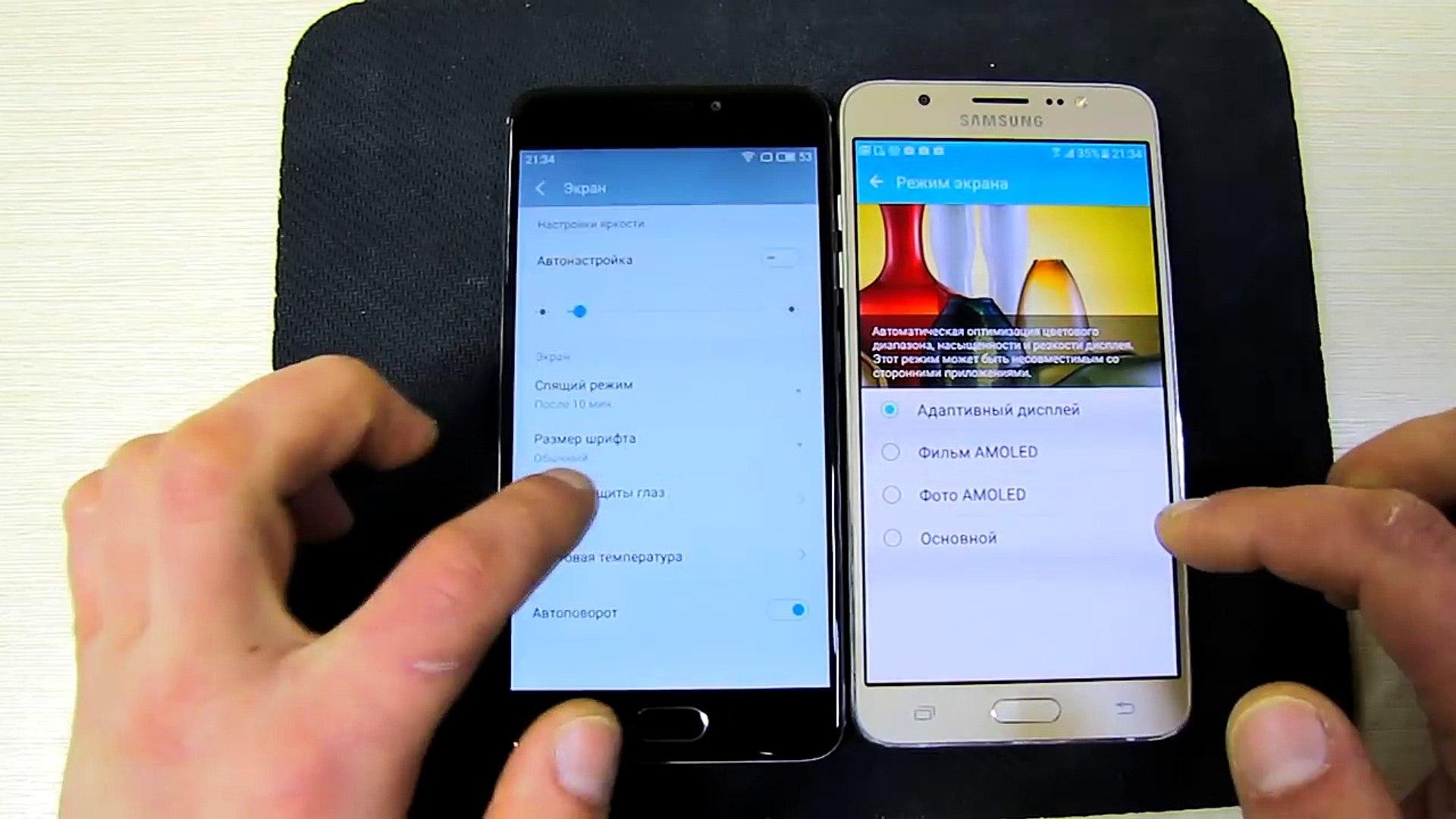 Samsung Galaxy J7 2016 или Meizu M5 Note? Super Amoled или металл?
