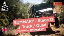 Summary - Truck/Quad - Stage 13 (San Juan / Córdoba) - Dakar 2018