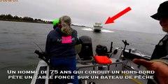 Un homme de 75 ans qui conduit un hors-bord  pète un câble fonce  sur un bateau de pêche