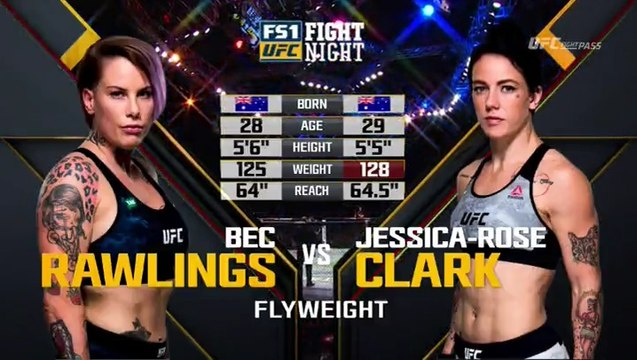 Bec Rawlings vs Jessica-Rose Clark full fight UFC Fight Night 121