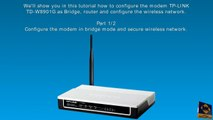 Use TP-LINK-MR3420 Access Point as Wireless Bridge - video dailymotion