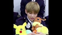 Taehyung with pokemon plushies is teraputic! - BTS to relax & lovelys