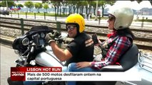 """5ª Edição do desfile """"Lisbon Hot Run"""" contou com mais de 500 motos"""
