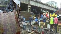 अंधेरी में रेलवे ब्रिज का एक हिस्सा गिरा, 5 घायल, लोकल बंद, डब्बा सर्विस ठप