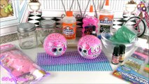 DIY LOL Surprise Pets SLIME! LOL Surprise Series 4 Teacher's Owl Sparkly vs Funky Kat Jelly Cube!