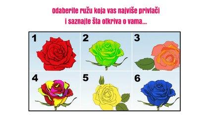 Izaberite najljepšu RUŽU i otkrijte TAJNU svoje LIČNOSTI