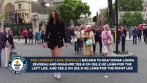 Woman with the longest legs - Meet the Record Breakers - video clips-