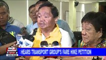 NEWS: LTFRB hears transport group's fare hike petition