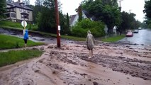 Flash flooding wipes out roads, damages buildings in Houghton, Michigan