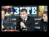 Carl Froch Lucian Bute press conference
