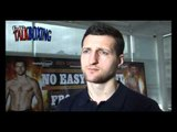 Carl Froch talks about his fight with Lucian Bute also Ward and Cleverly