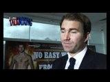 Boxing promoter Eddie Hearn talks Carl Froch Lucian Bute world title fight