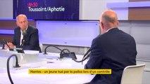 """#Nantes """"La suspicion de soutien, elle va au policier"""" déclare Eric Ciotti. """"Par principe, moi je fais confiance à ceux qui nous protègent, nos policiers et nos gendarmes."""""""