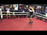 Danny Garcia shadowboxing